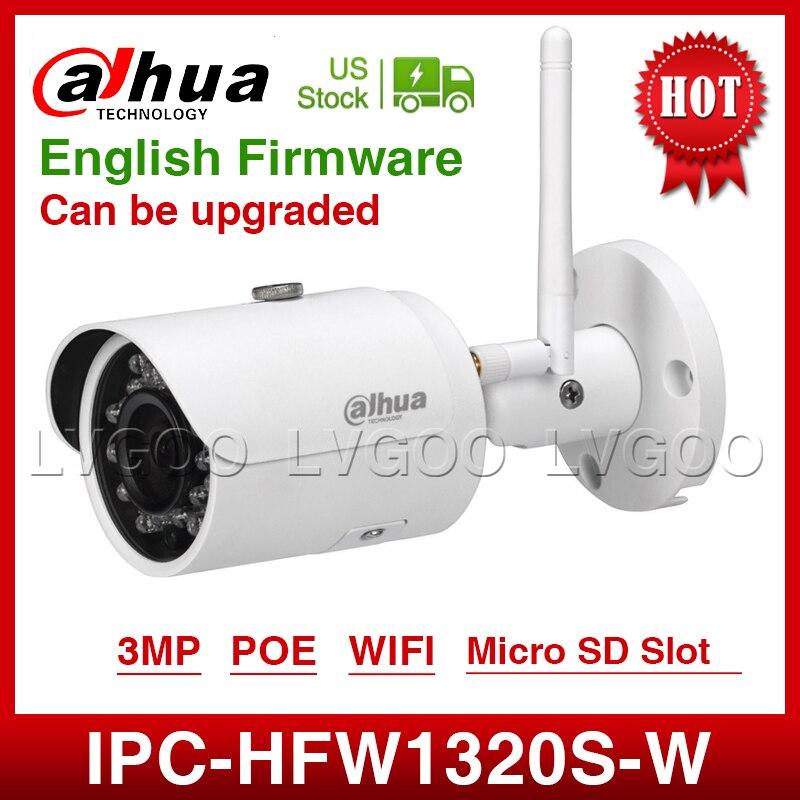 DaHua Wifi  IPC-HFW1320S-W 3MP Mini Bullet IP Camera Infrared CCTV Camera IP67 Security Camera Replace IPC-HFW1431S With Logo