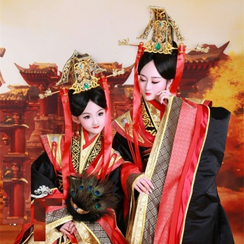 Legend of Mi Yue - Qin Empress Mum and Daughter Parent Child Costume Sets Trditional Hanfu Stage Performance Costume Hanfu you zi yin tang dynasty prince and empress costume parent child costume sets mother son stage clothing