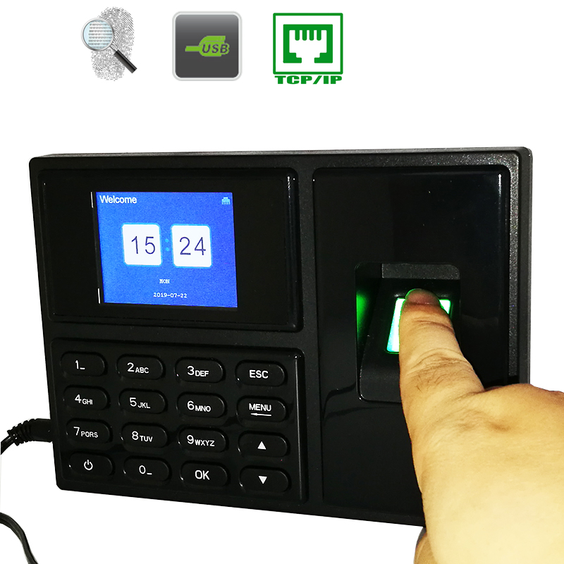 Tcp/ip Fingerprint Time Attendance System Clock Recorder Employee Work Management Device Electronic Machine