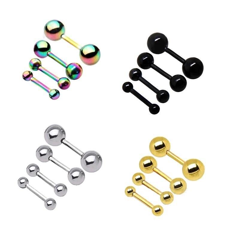 2 5 Mm Earrings: 4Pcs/set Retro 2.5 3 4 5 Mm Men's Stainless Steel Ball