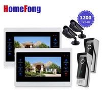 Homefong Door Video Camera Video Doorbell System with Camera 3.7MM Lens Security 1200TVL 2V2V2 Home Apartment Entry Kit