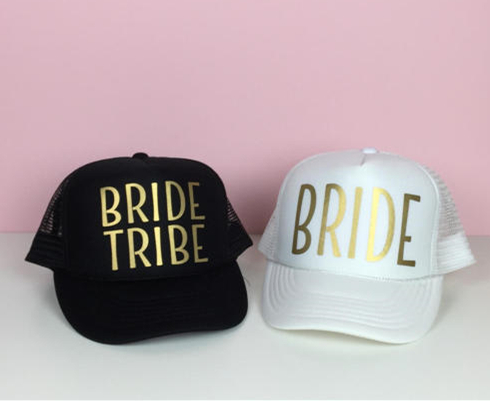 VORON Gold Print BRIDE TRIBE Mesh Baseball Cap Women Wedding Party Hat Brand Bachelor Club Team Snapback Cap Summer Beach SQUAD ming dynasty emperor s hat imitate earthed emperor wanli gold mesh hat groom wedding hair tiaras for men 3 colors