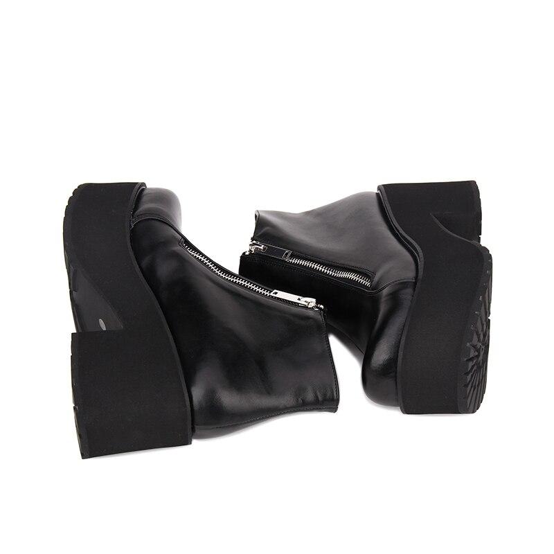 034926d6d Novedad Impresión Zapatos Lolita Negro Pu 46 Angelical De Plataforma Estilo  Botines Cuero Redonda Punk Tamaño 35 Punta 4R17Fqw