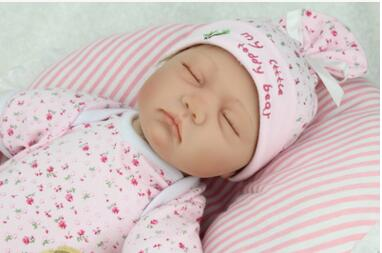 Born baby alive dolls for girls silicone reborn babies dolls eyes closed to sleep with sleeping dolls realistic super cute soft