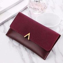 Neue Matte PU Leder Frauen Brieftasche Luxusmarke Berühmte Geldbörse Lange Design Haspe Kupplung Geld Geldbörse Kartenhalter Weibliche Brieftasche