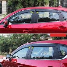 Exterior Window Visor Vent Shade Rain/Sun/Wind Guard Trims For Mazda CX-5 CX5 2nd Gen 2017 2018 car accessories