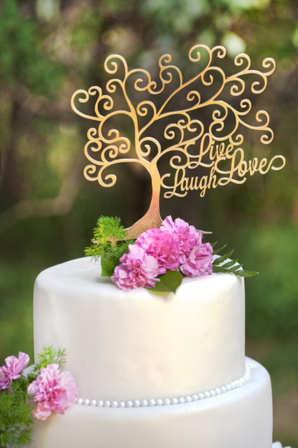Live laughlove tree shape mirror gold cake topper wedding cake live laughlove tree shape mirror gold cake topper wedding cake toppers junglespirit Gallery