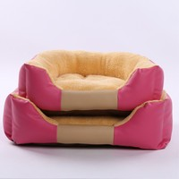 Cashmere Leather Pet Bed For Small Medium Dog Home Sleeping Nest Puppy Kennel Dogs House Simple Solid Supplies