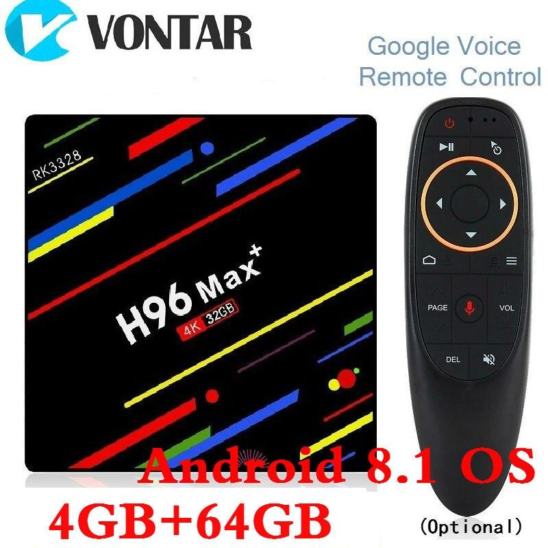 4 GB RAM 64 GB ROM H96 MAX Plus Android 8.1 TV Box RK3328 Smart 4 K Media Player QuadCore 2,4 g/5G Wifi PK T9 TVBOX H96 Max + 32G