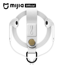 Xiaomi Mijia Bcase MEC Magnetic Earphone Wire Clip Leather Buckle Organizer Holder Portable Cable Winder