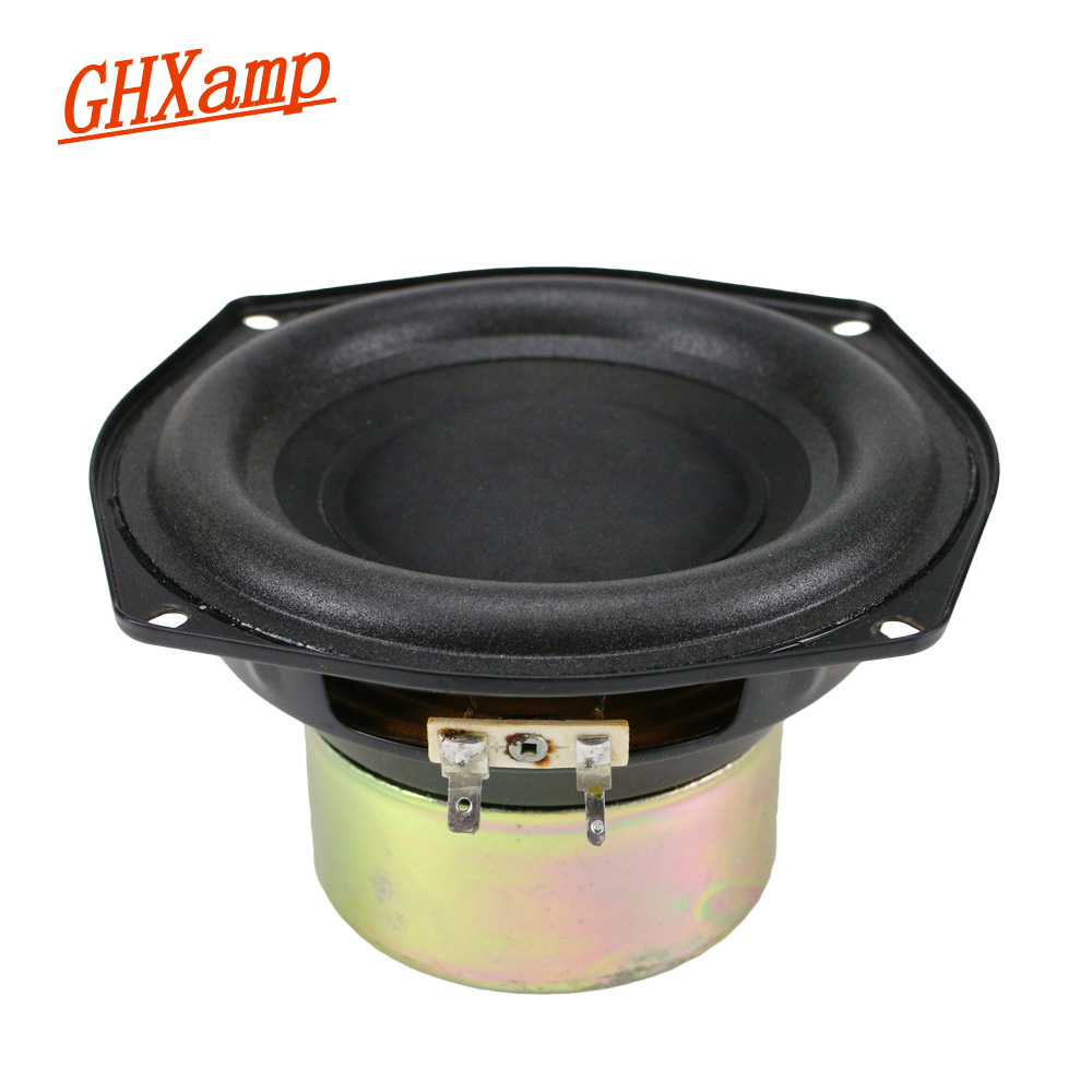 GHXAMP 5.5 Inch Subwoofer Speaker Unit 6ohm 100W Low Frequency High Power Anti-magnetic Super Bass Loudspeaker 1pc pa 3t professional stage high bass three divider electronic protection high power 15 18 inch loudspeaker box