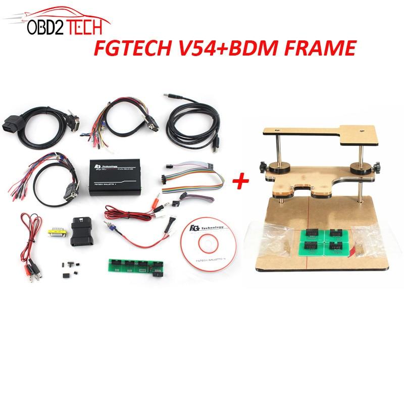 FGTECH V54 + BDM cadre un ensemble haute vitesse OBD2 K-CAN FG TECH Galletto 4 prise en charge BDM-tricor-obd fonction