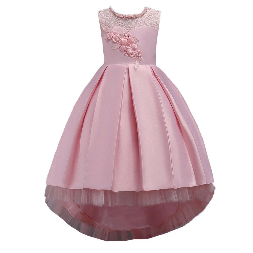 Niñas cola vestido rebordear princesa Vestidos para flor Niñas 4 ...