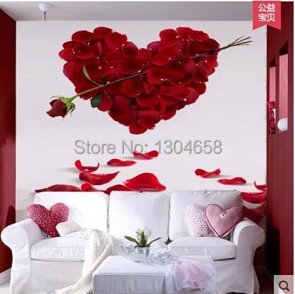 Custom large 3 d mural wallpaper romantic roses The sitting s