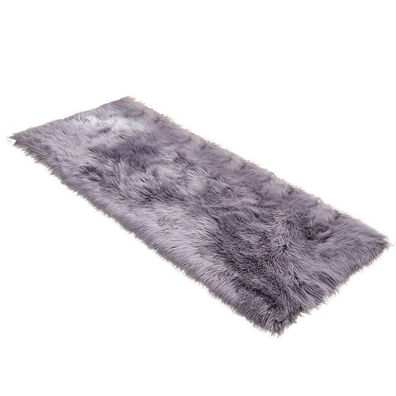 Small Size Short Area Rugs Indoor Use Living Room Decor Floor Carpet Bedroom Blue Rug Faux Fur Kids Carpet Soft Kitchen Rug Mat