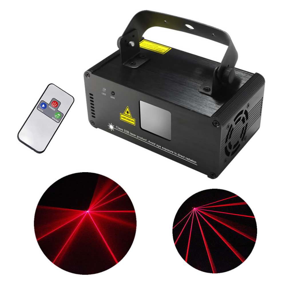 AUCD IR Remote PRO Mini 8 CH DMX 100mW Red Laser DPSS Stage Lighting Scanner DJ Party Disco Show Projector LED Lights DM-R100 rg mini 3 lens 24 patterns led laser projector stage lighting effect 3w blue for dj disco party club laser
