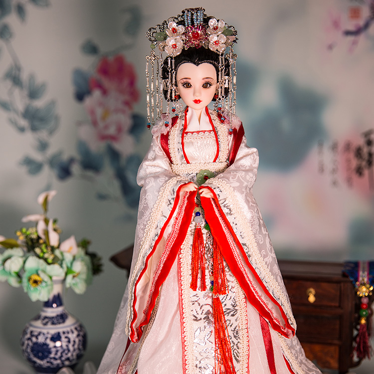 Handmade Traditional Chinese Dolls 14inch Tang Dynasty Princess Doll Movable Jointed Toys Beautiful Girl Doll Gifts 379