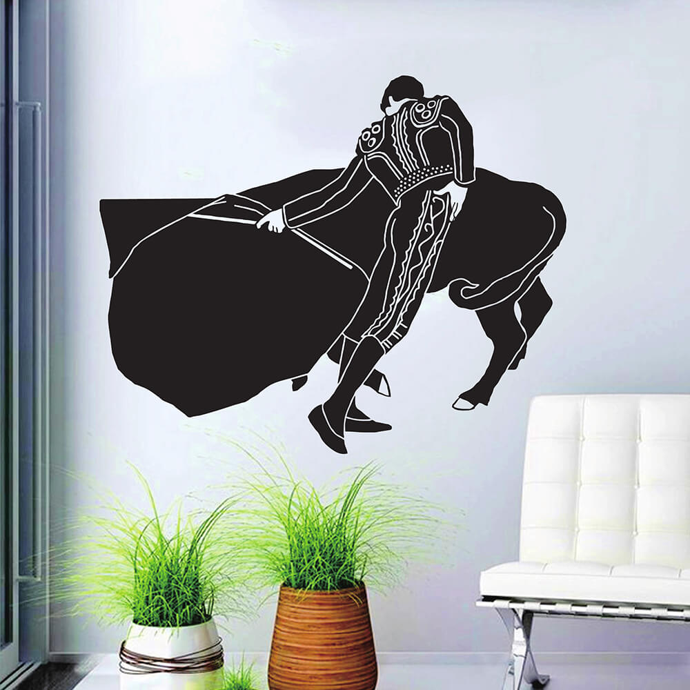 ZUCZUG 3D Wall Sticker Removable Stickers For Wall Decoration Waterproof Stickers On The Wall Self Adhesive Wallpaper Matador