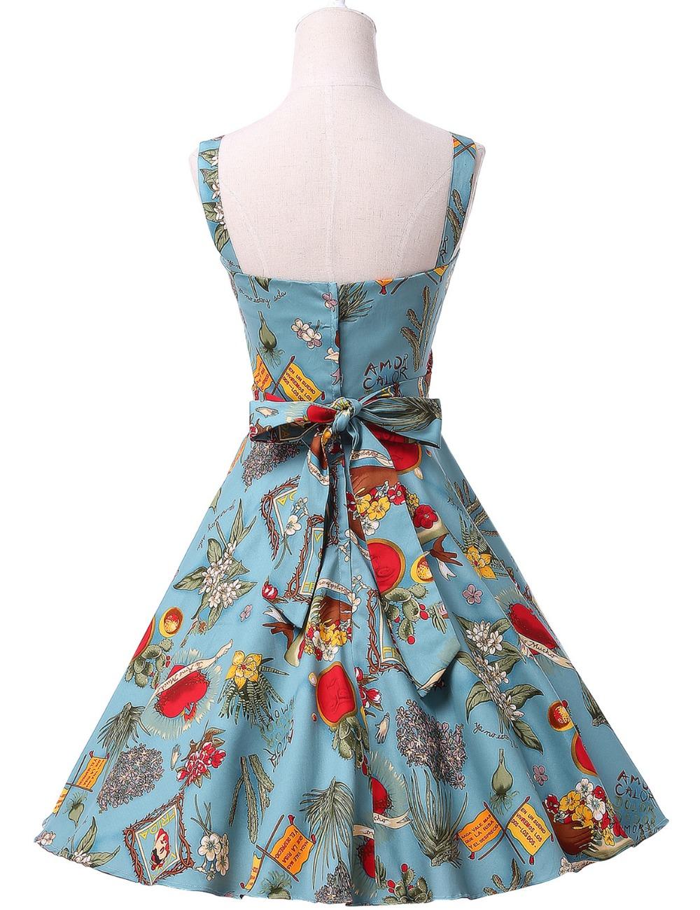 0ac172cf55b Women Summer Dress 2017 plus size clothing Audrey hepburn Floral robe Retro  Swing Casual 50s Vintage Rockabilly Dresses VestidosUSD 47.62 piece. Belle  Poque ...