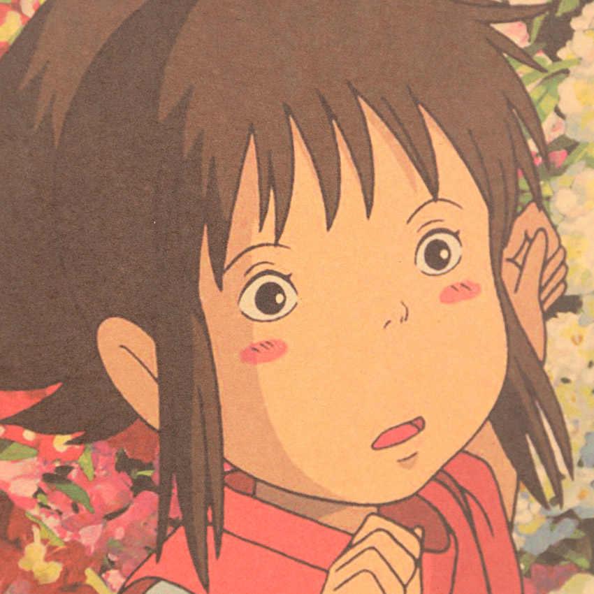 Галстук Лер известный аниме фильм Унесенные призраками Kraft бумага Плакат кафе декоративная живопись комнаты наклейки на стену