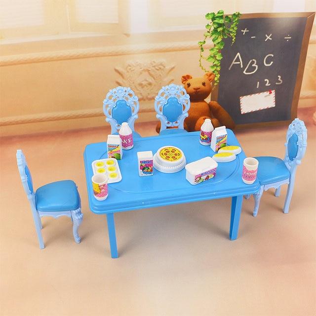 Tienda Online 2018 moda Rosa amor cocina Mesa muebles para muñeca ...