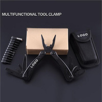 24 In 1 Tungsten Exchangeable Blade Cutter Multi Functional Combination Pliers Tool Folding EDC Hand Tool
