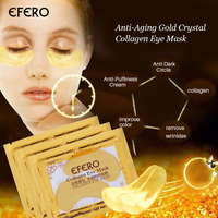 Natural Crystal Collagen Gold Eye Mask Anti-Aging Anti Dark Circle Face Skin Care Eye patches Anti-Puffiness Cream 20pcs=10pack Facial Care