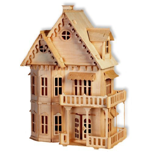 Gothic House Model 3D DIY Wooden Puzzle Toy Great Children Gift Intelligence Development