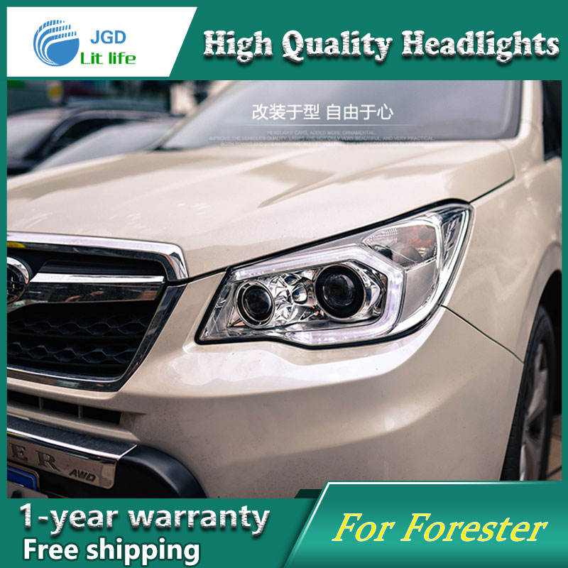 Car Styling Head Lamp case for Subaru Forester Headlight 2013-2016 Sentra LED Headlights DRL H7 D2H Hid Option Bi Xenon Beam car styling head lamp case for subaru forester headlights 2013 2016 led headlight drl h7 d2h hid option angel eye bi xenon