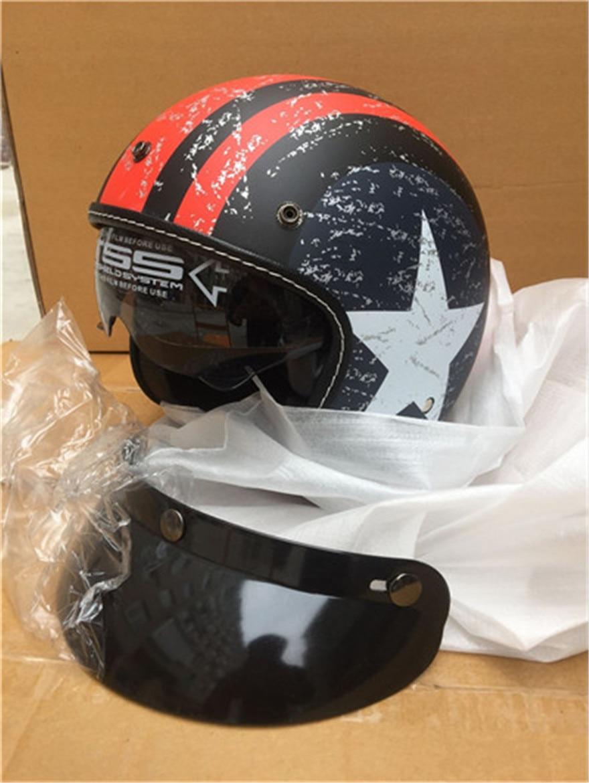 1dd2aeba motorcycle helmet vespa vintage harley winter half helmet with inner visor  jet retro capacete casque moto helmet DOT mate star Y-in Helmets from  Automobiles ...