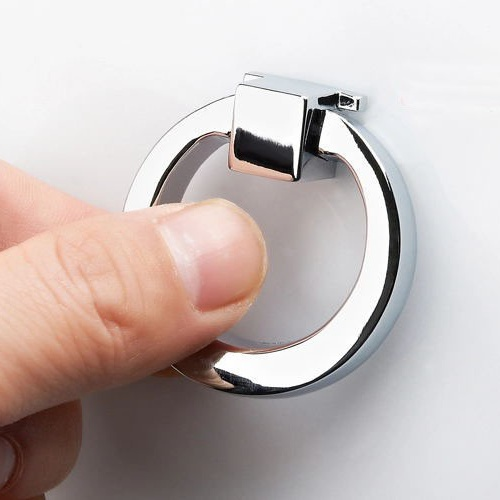 Delicieux Free Shipping Bright Chrome Cabinet Knob / Zinc Alloy Drawer Pull Ring  Hardware For Kitchen Kitchen