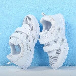 Image 4 - Năm 2019 Nữ Mới Giày Thể Thao Chạy Bộ Giày Sneaker Dành Cho Trẻ Em Của Lưới Mềm Mại Thoải Mái Bé Trai Thoáng Khí Giày Học Sinh Giày Trắng