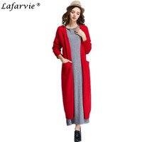 Lafarvie 2016 New Hot Sale Autumn Women Fashion Cashmere Cardigan V Neck Knit Shirt Slim Korean