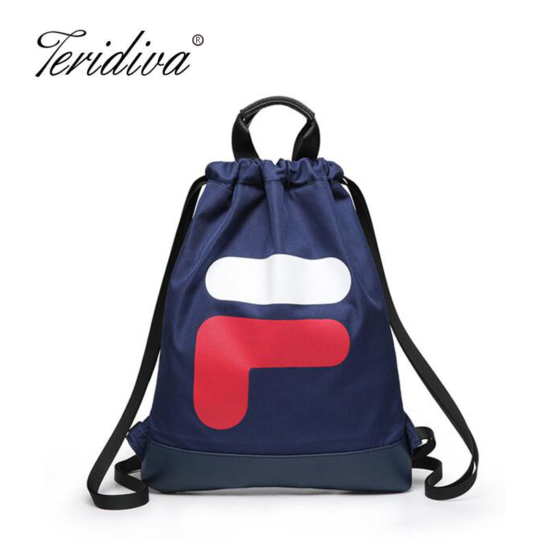 Women Backpack Drawstring Bag Waterproof Nylon Lady Womens Backpacks Female Casual Travel Bags Mochila School Bag for Girl