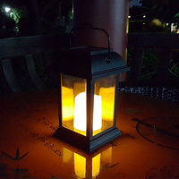 Solar Power Waterproof LED Garden Candle Light Outdoor Lighting Hanging Lantern Lamp ALI88