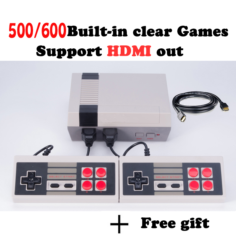 HD HDMI Game Console Retro Mini Handheld Video Game Console Family TV Game Player With Built-in 500/600 Games hd mini console constant temperature electric heater ptc fan heater 150w 12v dc small space heating