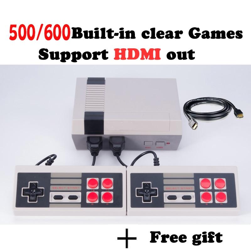 HD HDMI Spielkonsole Retro Mini Handheld Videospiel-konsole familie TV Spiel-Spieler Mit Eingebautem 500/600 Spiele hd mini konsole