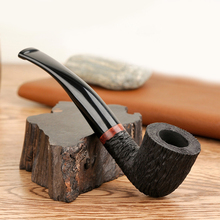 Wooden Pipes Smoking Accessories Briar Wood Bent Type Weed Pipe Carving Smoke Tobacco Cigarette Filter Holder Men Pipes Gift