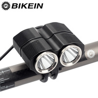 BIKEIN 2000 Lumen 2 x XML L2 LED Front Light Brightness Lights Headlamp Flashlight 4800mAh Rechargeable With Charger Accessories Bicycle Light    -