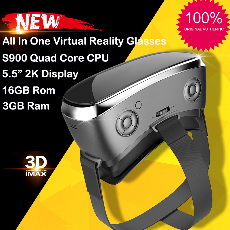 New V3H VR Glasses All in One Virtual Reality 5 5 inch 2K Display 3GB 16GB