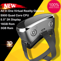 New V3H VR Glasses All in One Virtual Reality 5.5 inch 2K Display 3GB/16GB Actions S900 Quad Core 1.7GHz Wifi 4000mAh VR Glasses