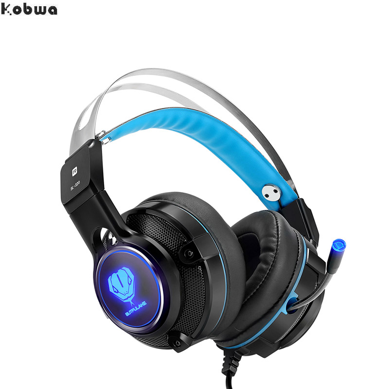 купить SL-320 3.5mm Wired Professional Gaming Headphone Headset Earphone with Microphone LED Light for ps4 PC USB Gamer for Android IOS недорого