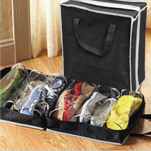 6 Pairs Vogue Shoes Storage Organizer Holder Container Under Bed Closet Box Bag