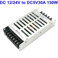 DC12/24V to DC 5V 30A 150W Bus/car Power converter adapter switch power supply dc to dc transformer for LED display sign