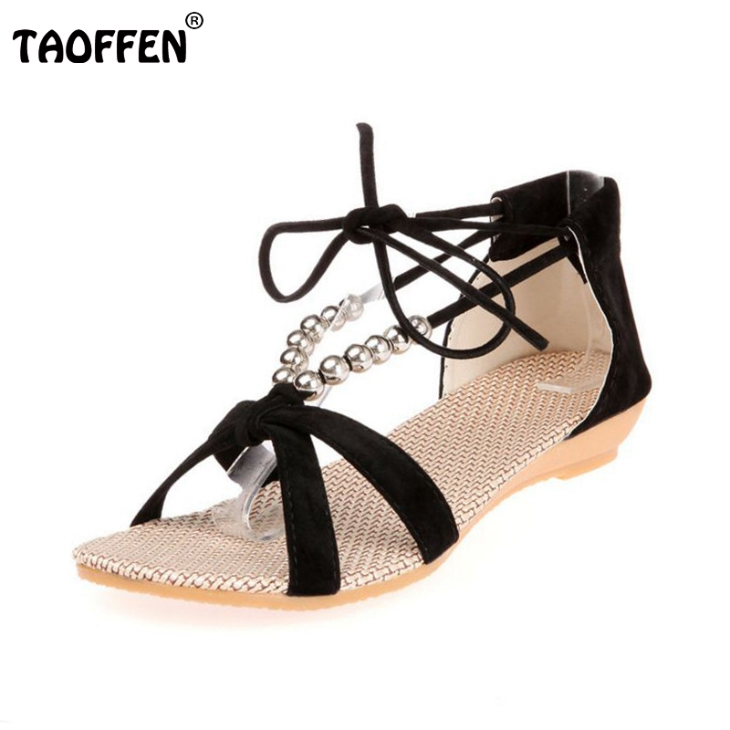 new arrival 2016 women sandals low heel wedges summer casual single shoes woman sandal fashion soft slippers P23540 eur 35-39 2016 fashion women summer sandals slippers flat heel sandals beaded lacing gladiator small wedges shoes casual shoes