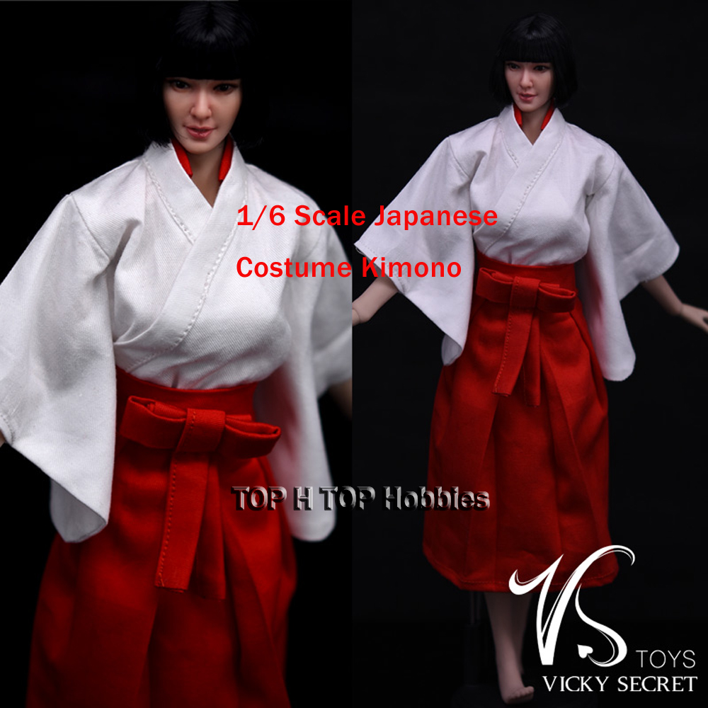 VStoys Japanese Kimono//Miko/Kendo Clothing 1/6 Scale Model For Dolls Figures Cosplay Clothing Costume Fit 12 PH female Figures