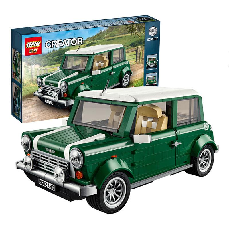 ФОТО Free shipping LEPIN 21002 technic series MINI Cooper Model Building Kits Blocks Bricks Toys Compatible With10242
