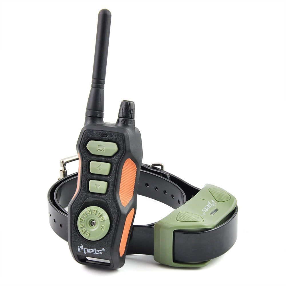 Ipets 618 Waterproof Dog Training Collar with Remote Range 800 Yards and shock vibration Beep function