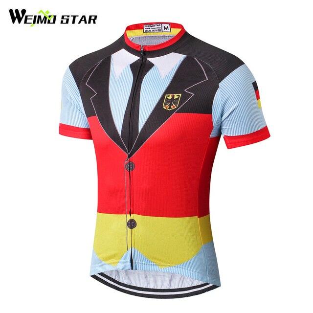 6c797808e392a Weimostar Homens Roupas de Ciclismo Corrida Esporte Alemanha Camisa De Ciclismo  Camisa Da Equipe Pro mtb