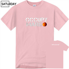 Men's Space X T Shirt Tesla Tees Casual Top Design Popualr Occupy Mars 100% Cotton Tee SHIRT Spacex Graphic Tees Men